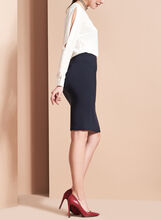 Louben Pencil Skirt, Blue, hi-res