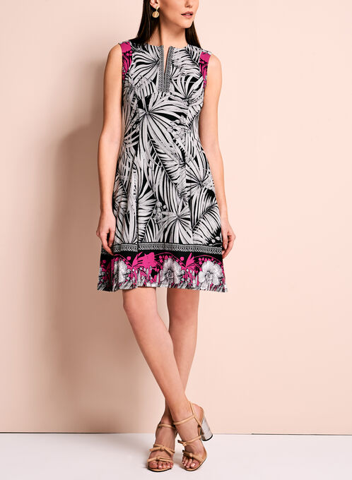 Maggy London Floral Fit & Flare Dress, Black, hi-res