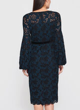 Maggy London - Lace Balloon Sleeve Sheath Dress, Blue, hi-res