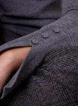Boat Neck Chevron Knit Sweater, Grey, hi-res
