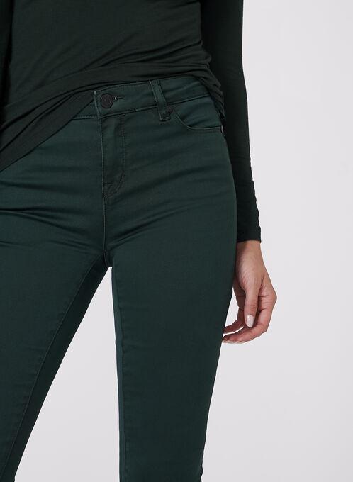 Jean effet ventre plat à jambe étroite, Vert, hi-res