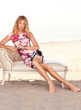Jax Floral Print Scuba Dress, Multi, hi-res