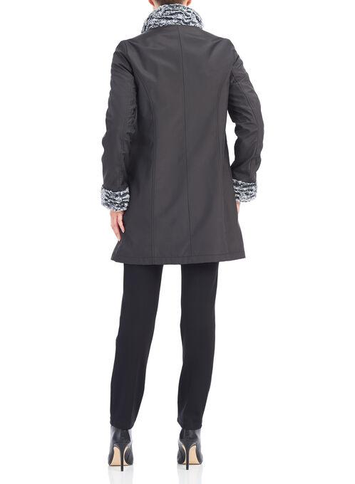 Novelti Reversible Faux Fur Jacket, Black, hi-res