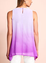 Sleeveless Ombré Blouse, Purple, hi-res