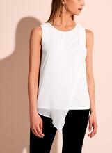 Sleeveless Asymmetric Blouse, Off White, hi-res