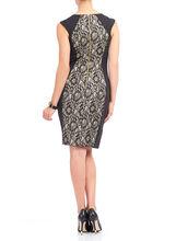 Jax Lace Panel Jersey Dress, Black, hi-res