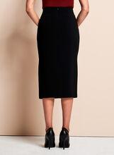 Louben - Side Slit Pencil Skirt , Black, hi-res
