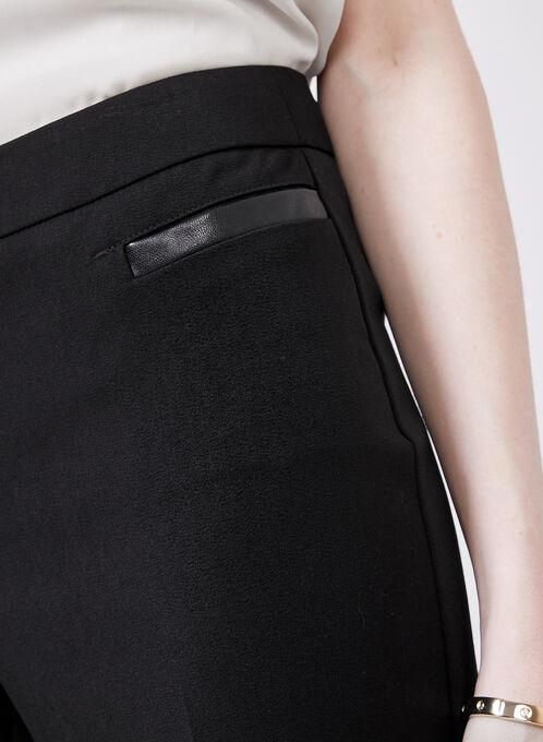 Lauren Tailored Fit Straight Leg Pants , Black, hi-res