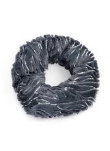 Sequin Faux Fur Loop Scarf, Grey, hi-res
