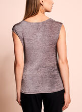 Sleeveless Heather Knit Top, Pink, hi-res