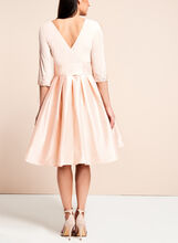 Adrianna Papell Beaded Taffeta Dress, Pink, hi-res