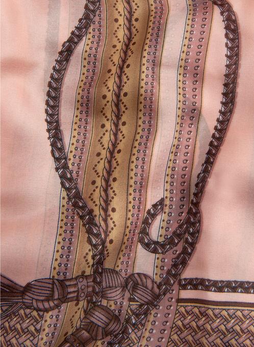 Harness & Tassel Print Scarf, Pink, hi-res