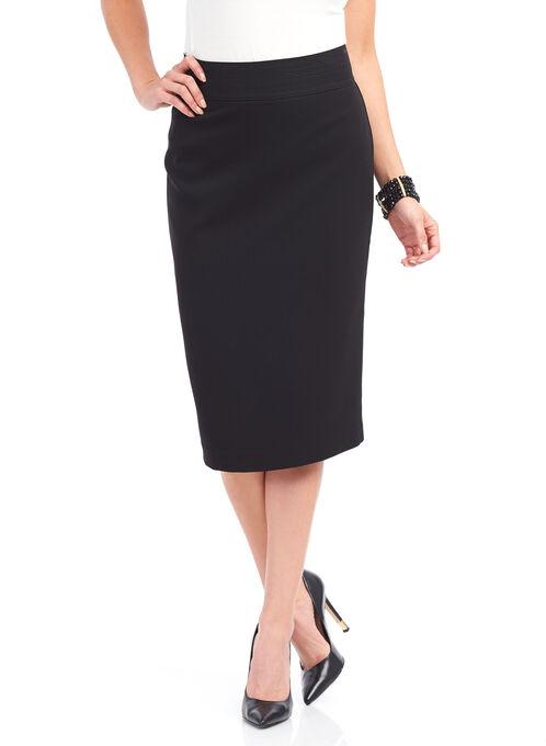 Exposed Zipper Pencil Skirt , Black, hi-res