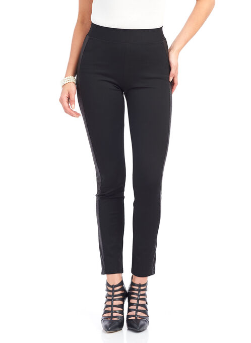 Vex Ponte Slim Leg Pants , Black, hi-res