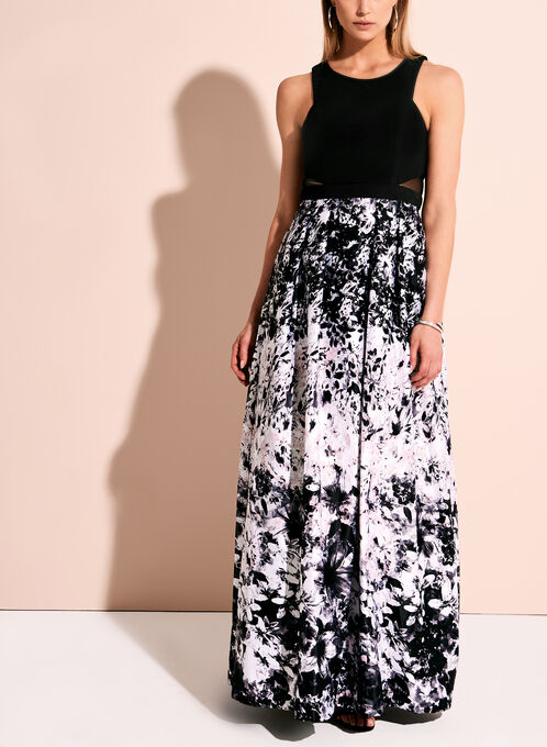 Robe de bal à jupe fleurie, Multi, hi-res