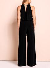 Halter Neck Jersey Jumpsuit, Black, hi-res