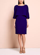 Adrianna Papell Overlay Sheath Dress, Blue, hi-res