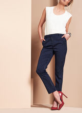 Striped Slim Leg Pants, Blue, hi-res