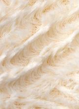 Wave Pattern Faux Fur Loop Scarf, Off White, hi-res