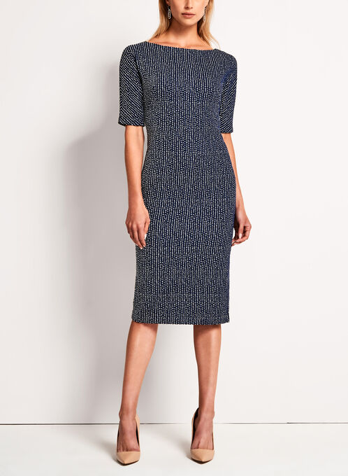 Maggy London - Birdseye Knit Sheath Dress, Multi, hi-res