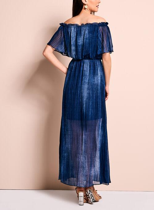 Off The Shoulder Maxi Dress, Blue, hi-res