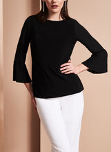 Long Sleeve Pleated Chiffon Blouse, , hi-res