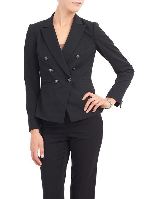 Tahari Notch Collar Blazer, Black, hi-res