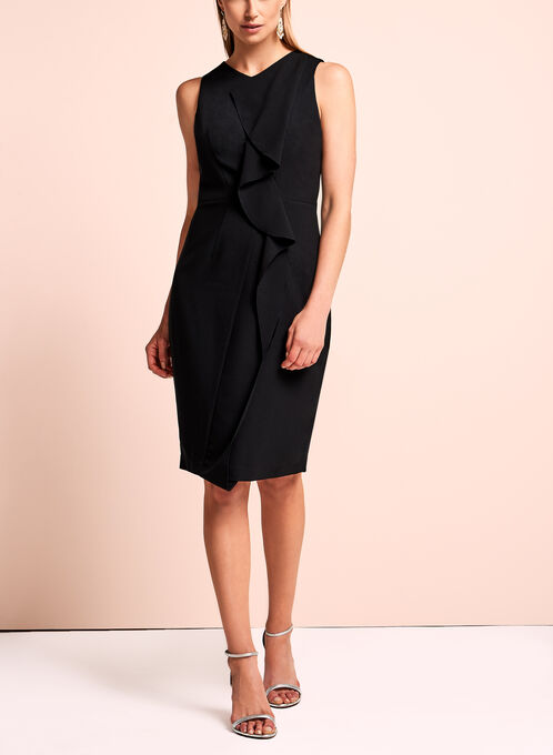 Jax Sleeveless Sheath Dress , Black, hi-res