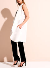 Linen Blend Cascade Vest, Off White, hi-res