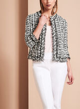 Contrast Tweed Boucle Jacket, , hi-res