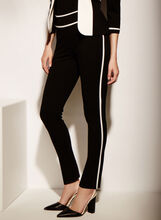 Slim Leg Piping Trim Pants, , hi-res