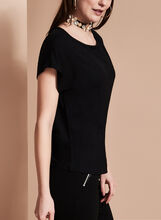 Short Sleeve Scoop Neck Top, , hi-res