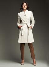 Ellen Tracy - Belted Wool Blend Wrap Coat, Off White, hi-res