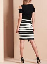Frank Lyman Asymmetric Wrap Skirt, Black, hi-res