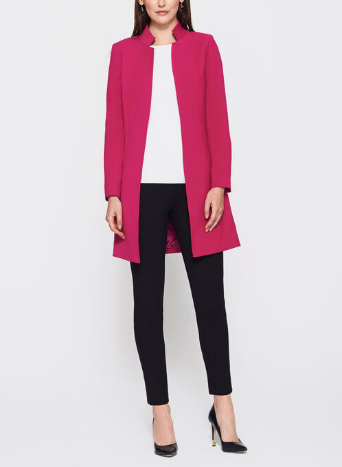 Tahari - Inverted Notch Collar Jacket, Pink, hi-res