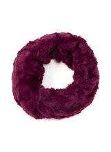 Faux Fur Loop Scarf, Red, hi-res