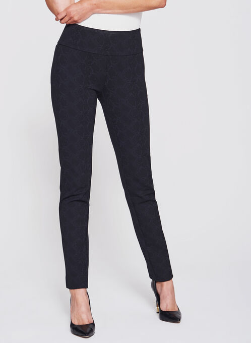 Madison Pull-On Slim Leg Pants, Black, hi-res