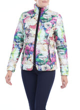 Quilted Floral Print Coat , Multi, hi-res