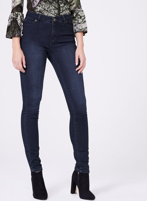 High Rise Skinny Leg Jeans, Blue, hi-res