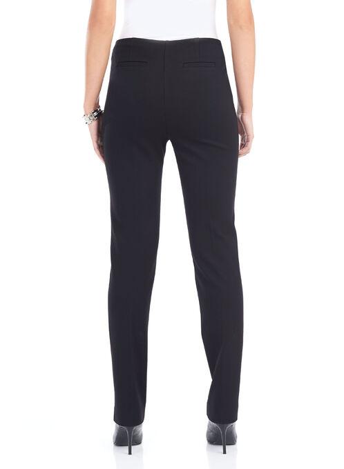 Slim Leg No-Waist Pants, Black, hi-res