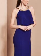 Halter Neck Popover Dress, Blue, hi-res