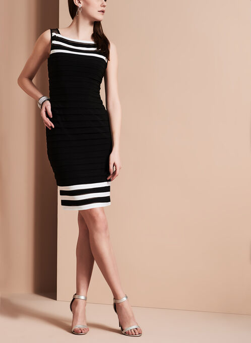 Adrianna Papell Tiered Jersey Dress, Black, hi-res