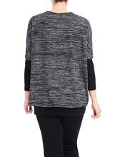Layered Oversized Top , Black, hi-res