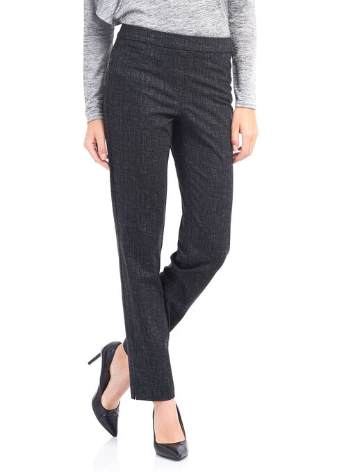 Loulou Diamond Straight Leg Pants , Black, hi-res