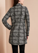 Novelti Jacquard Tweed Banker Coat, Black, hi-res