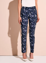Abstract Print Tummy Control 7/8 Pants, , hi-res