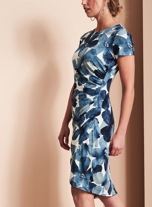 Maggy London Floral Print Dress, Blue, hi-res
