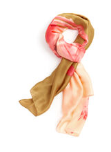Flamingo Print Scarf, Orange, hi-res