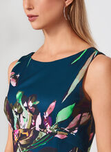 Ellen Tracy - Floral Print Scuba Dress, Multi, hi-res