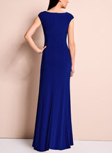Crystal Embellished Jersey Gown, Blue, hi-res